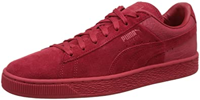 puma red suede trainers