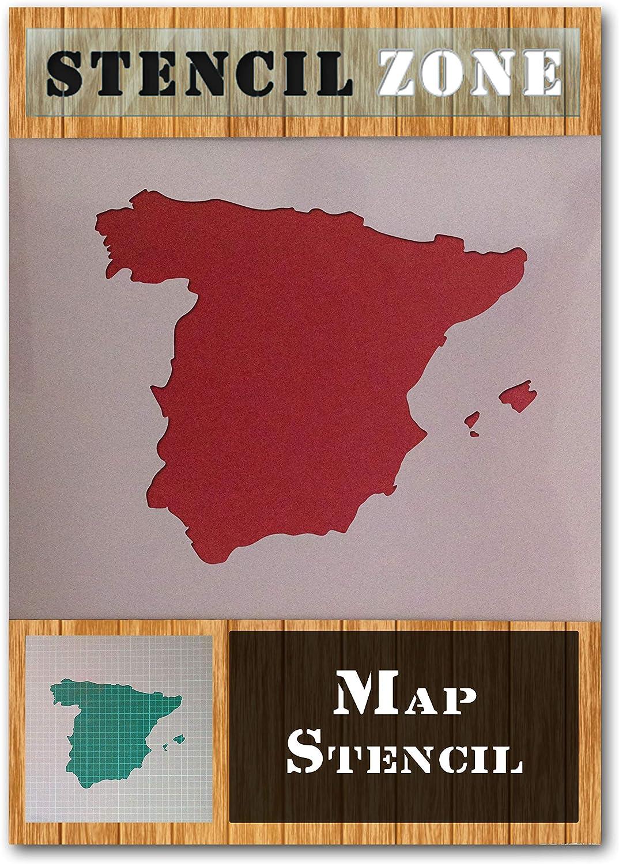España España Mapa de la bandera de país de Mylar aerógrafo ...