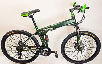 UAT-bike MTB Bicicleta Plegable 26 Pulgadas Shimano TZ 21 de ...