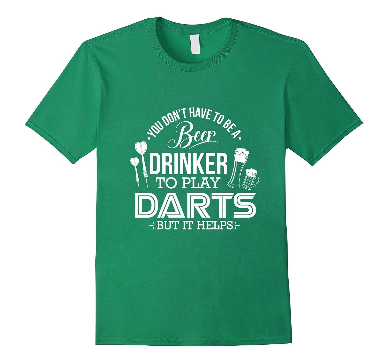 Mens Funny Darts T Shirt Drinker-Awarplus