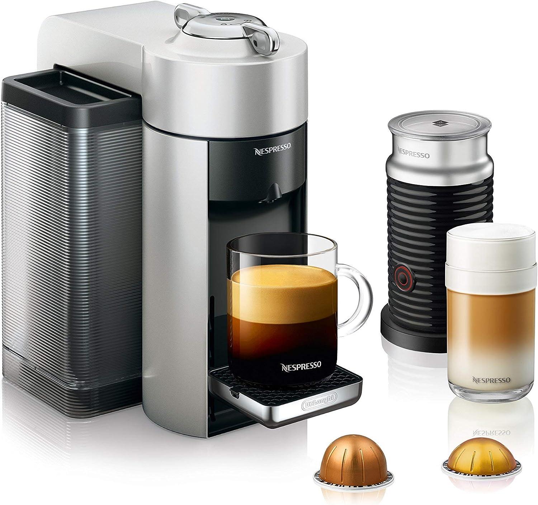Nespresso Vertuo Evoluo - Máquina de café y espresso con aeroccino de DeLonghi, color plateado: Amazon.es: Hogar