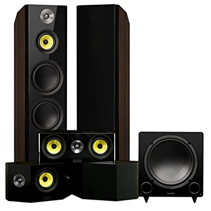 Fluance Signature Series Surround Sound Home Theater 51 Channel Speaker System Including Three Way Floorstanding
