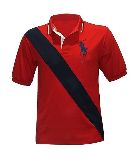 Polo Ralph Lauren PERFORMANCE Men\u0027s BIG PONY Shirt BIG AND TALL RL2000 RED/ NAVY (