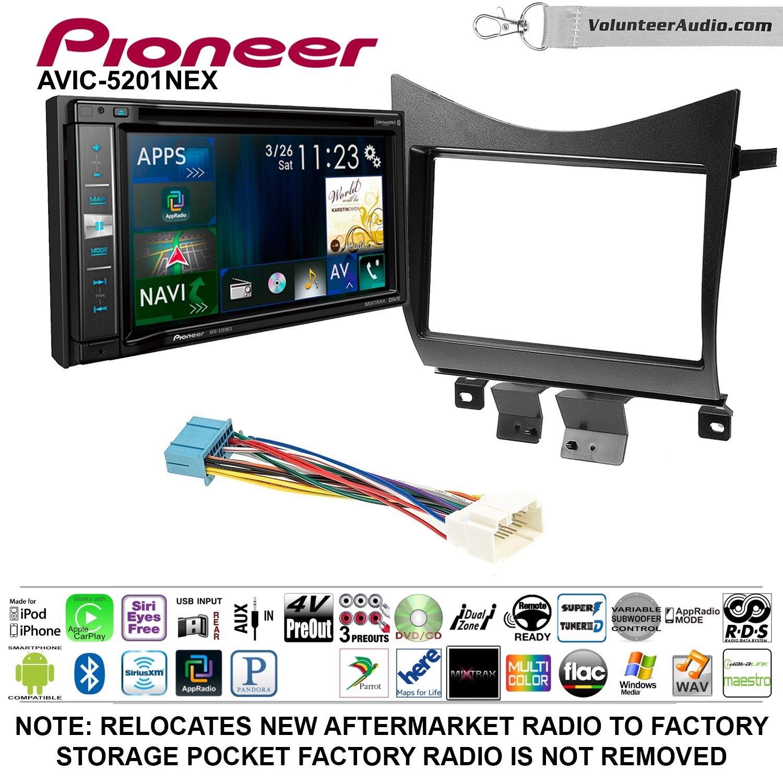 Pioneer AVIC-5201NEX Double Din Radio Install Kit with Navigation Apple Carplay Bluetooth Fits 2003-2007 Accord