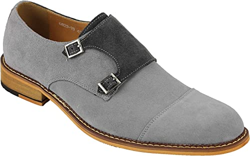 Xposed Mens Retro Real Suede Leather 2