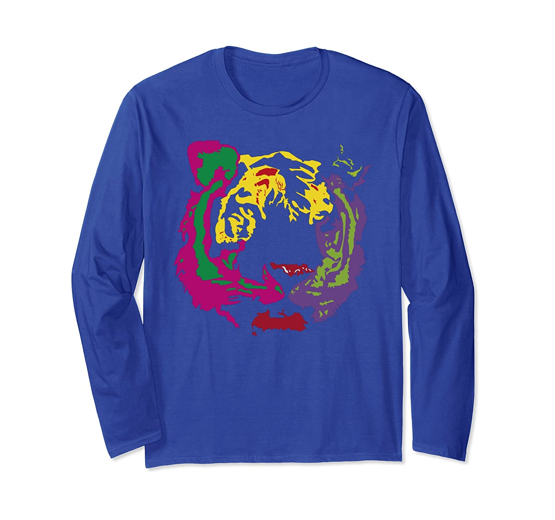 Beautiful Tiger Face Rasta Colors Style Short Sleeve T-Shirt-AZP