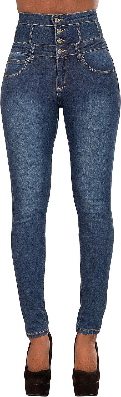 Glook Skinny Jeans Donna Pantaloni A Vita Alta Legging Eleganti Elastico Denim Lunghi Matita Pantaloni