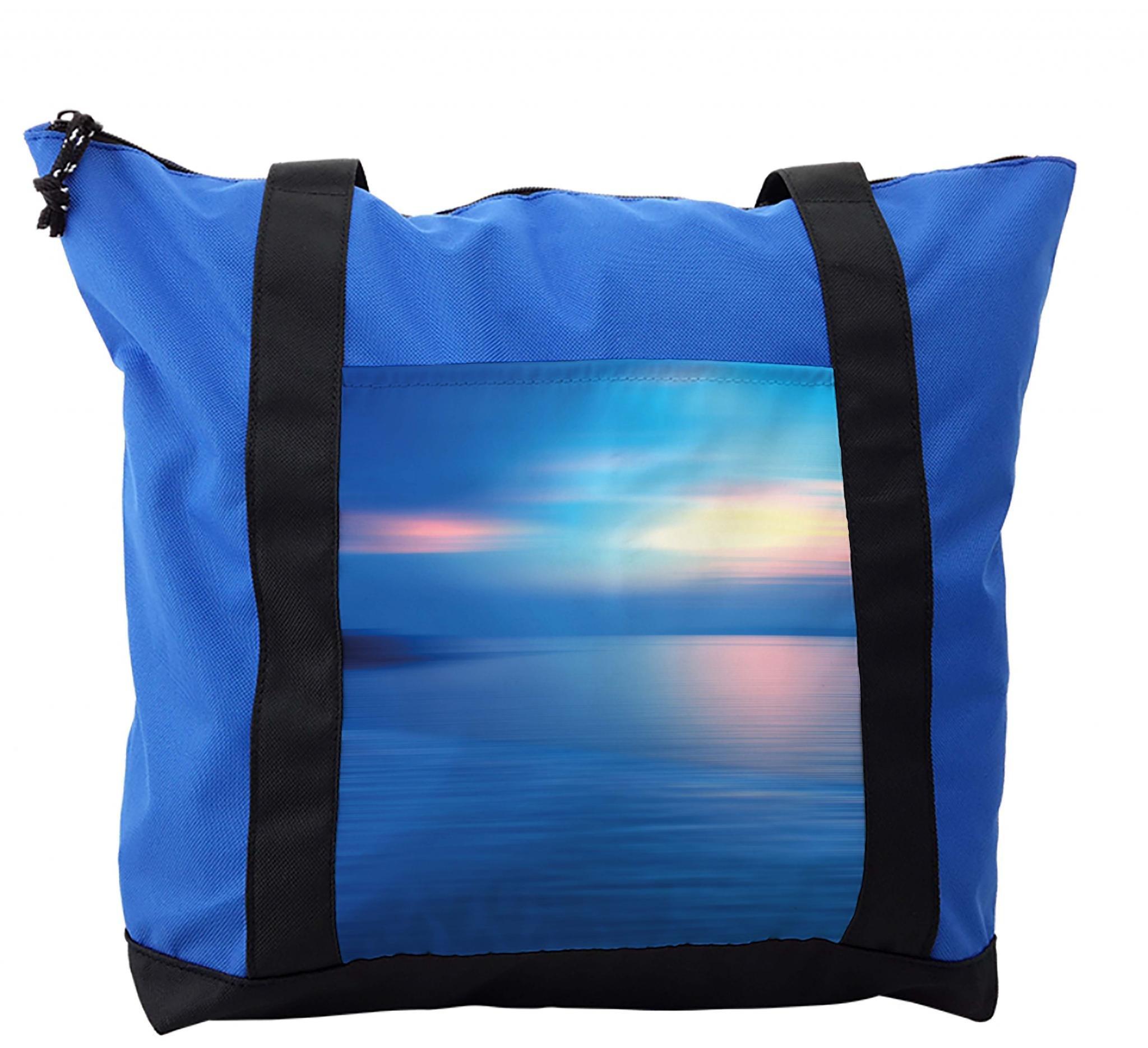 Lunarable Landscape Shoulder Bag, Panoramic Ocean Scene, Durable with Zipper