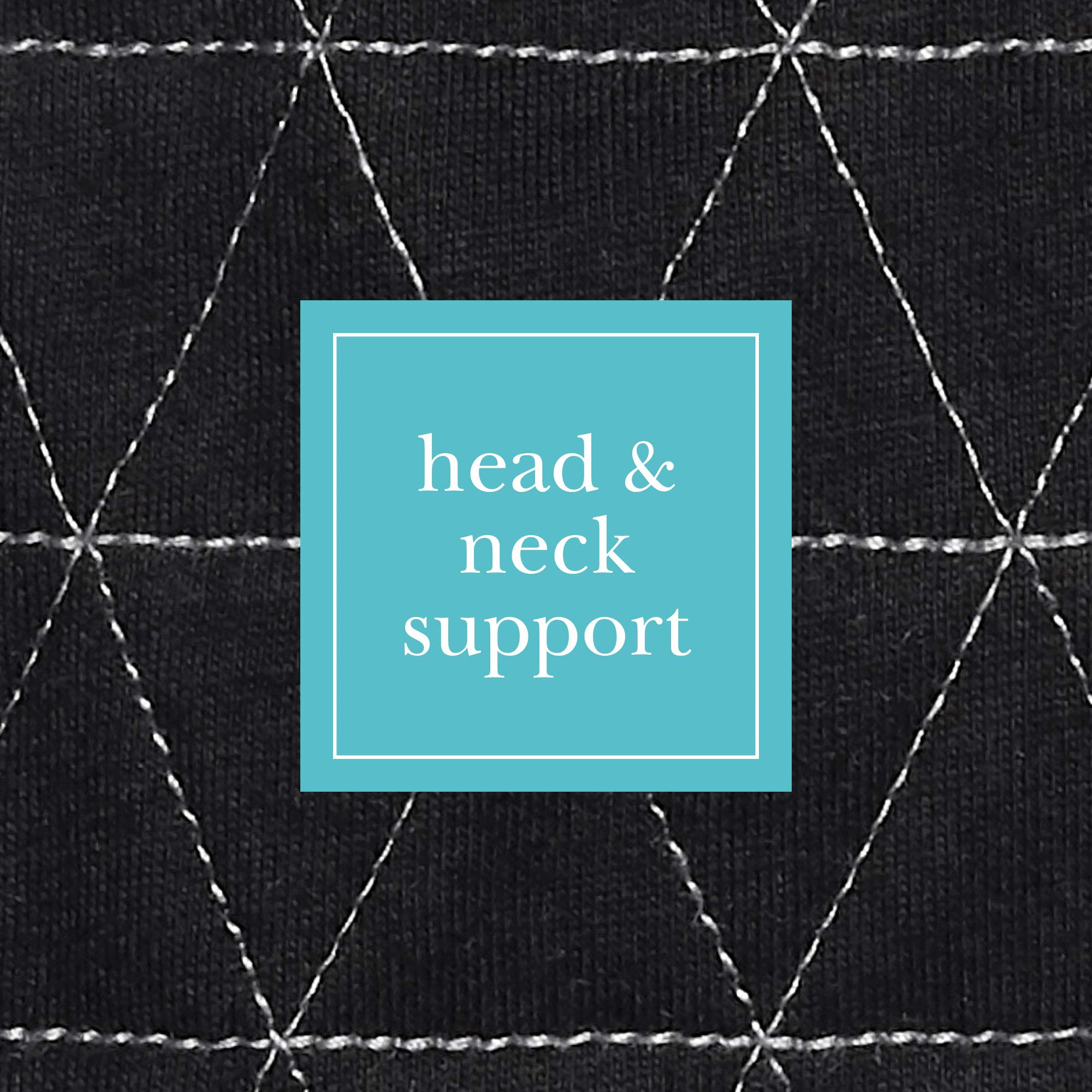JJ Cole - Head Support, Newborn Head and Neck Support for Car Seat and Stroller, Designed to Adjust with Age, Black Tri Stitch, Birth and Up by JJ Cole (Image #2)