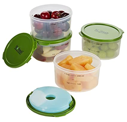 Amazoncom Fit Fresh Fresh Starts 1 Cup Chilled Containers with