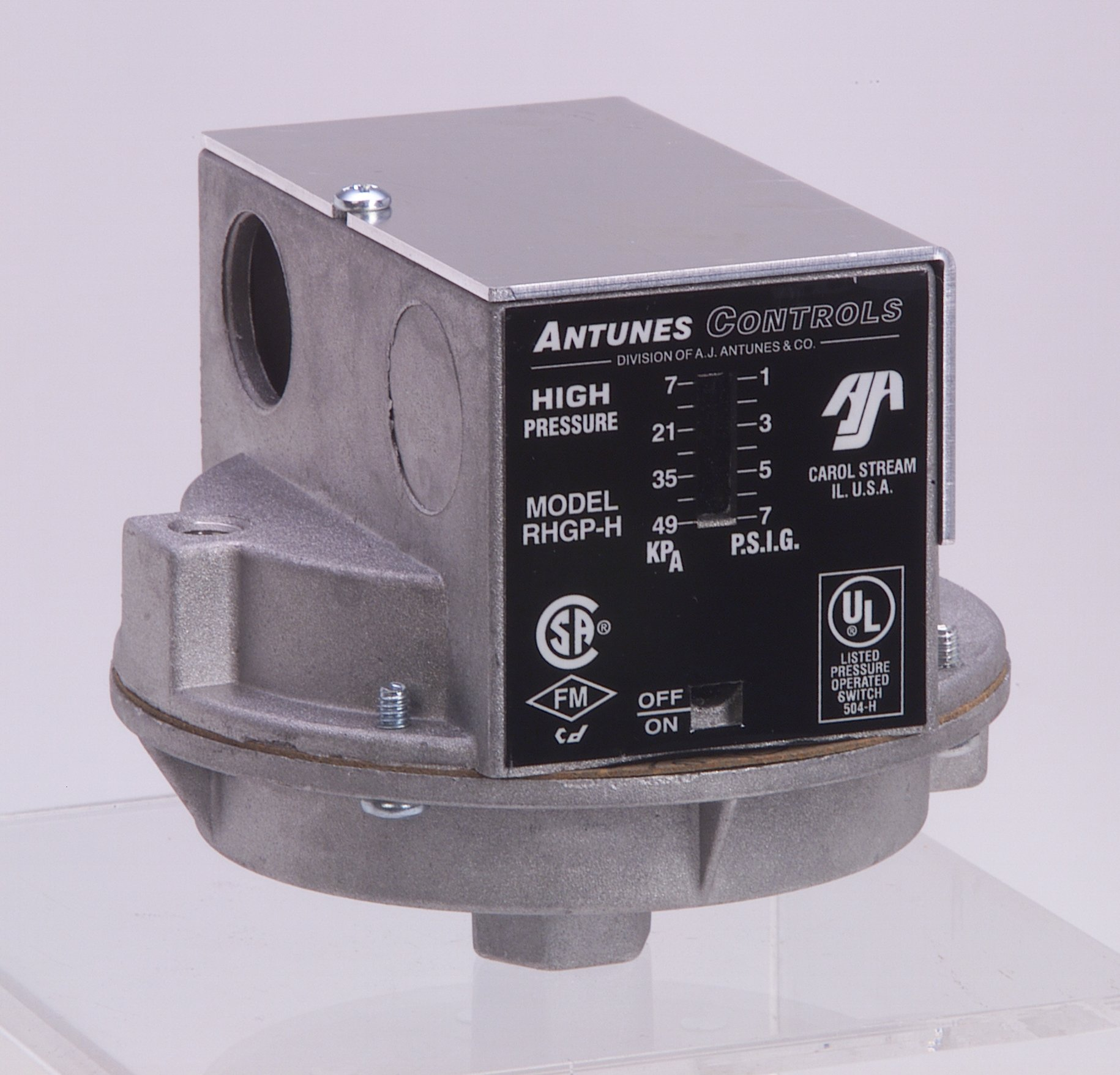 Antunes Controls RLGP-H(6-15psi) Models RHGP-H and RLGP-H Single Gas Switches