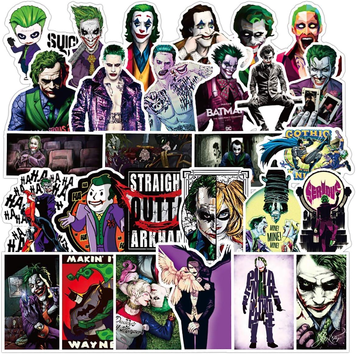 Joker Stickers 50 PCS  Vinyl Waterproof Stickers for Laptop,Skateboard,Water Bottles,Computer,Phone,Laptop Stickers,Horror Movie Stickers (Clown-50PCS)