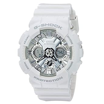 9047f4a49a57 Amazon.com  G-Shock Women s GMA-S120MF-7A1CR White Watch  Watches
