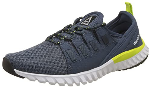 Reebok Women s Identity Comfort Indigo Yellow Silver Wht Blk Running Shoes - 5ac4b5f1b