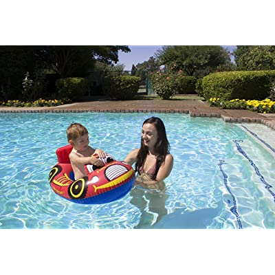 Poolmaster Learn-to-Swim Baby Swimming Pool Float Rider, Fire Engine: Toys & Games