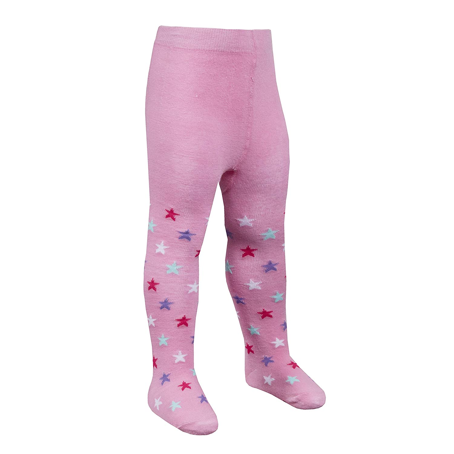 Babies Patch Panel Tights With Grip Soles
