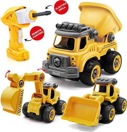 Truck Excavator Toy For Kids 1 2 3 4 5 6 7 Years Age Boy Mini Toddler Cool Xmas