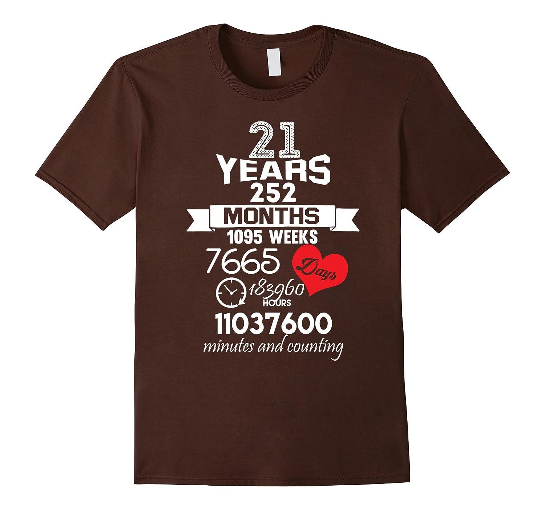 21 Wedding Anniversary Gift: 21 Years Wedding Marriage T-Shirt