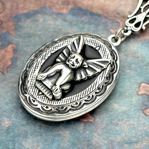 Amazon gargoyle necklace gargoyle locket handmade gargoyle necklace gargoyle locket aloadofball Gallery