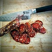 Amazon.com: Shun DM0718. Cuchillo Santoku de 7 pulgadas ...