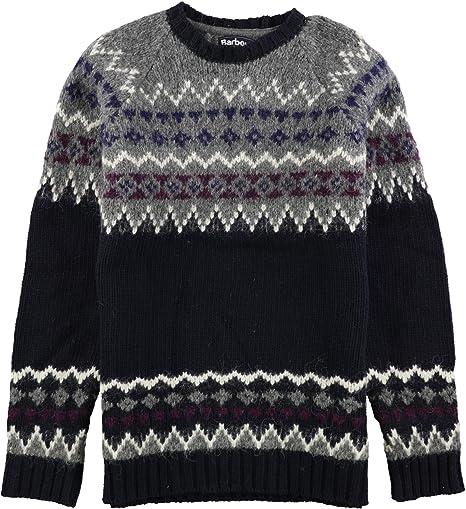 ny kollektion kupongskod klassisk Barbour Mens Wetheral Fair Isle Pullover Sweater at Amazon Men's ...