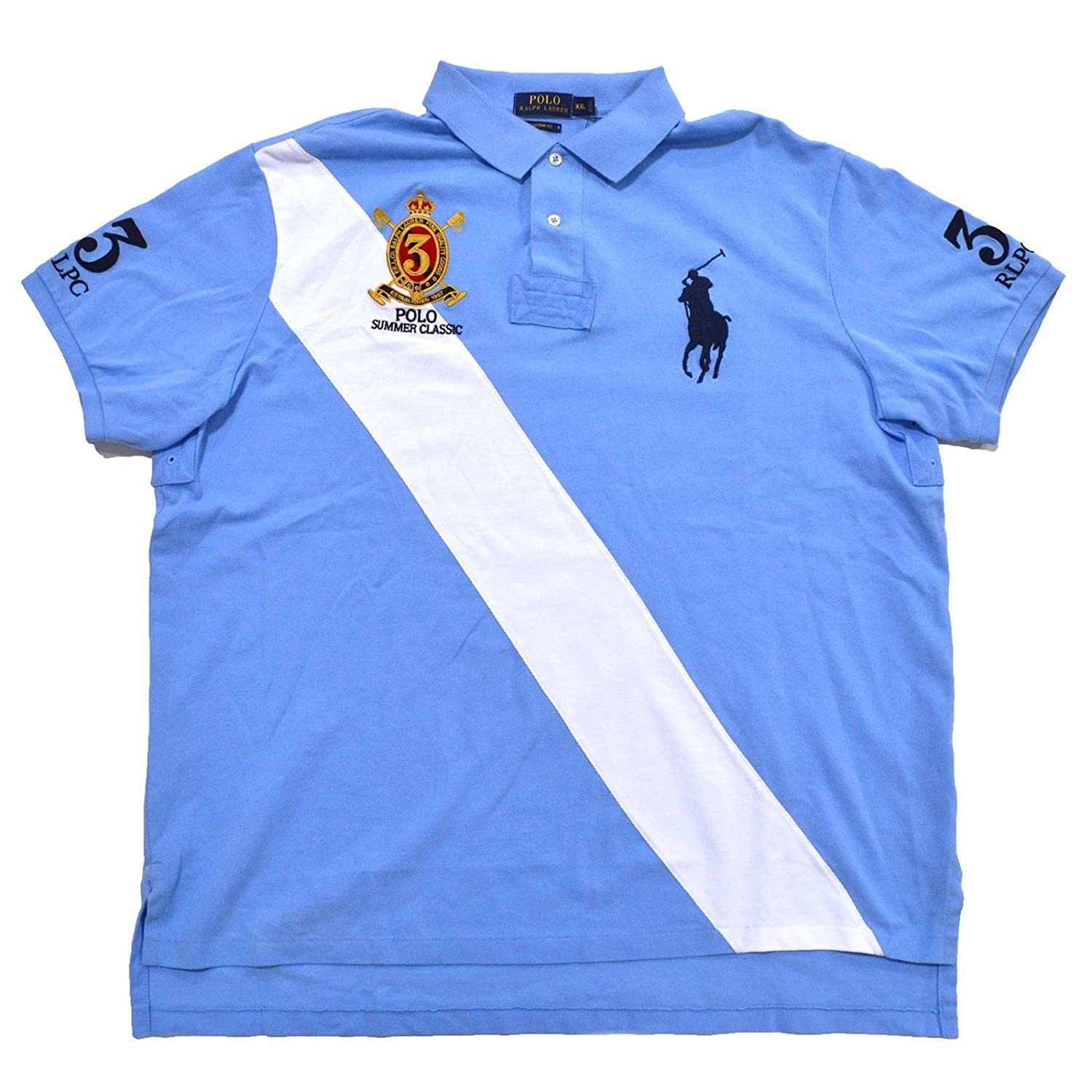 Polo Ralph Lauren Mens Custom Fit Colorblock Polo Shirt at Amazon Men\u0027s  Clothing store: