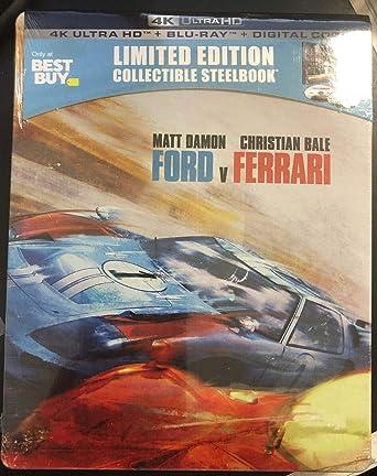 Amazon Com Ford Vs Ferrari Steelbook 4k Uhd Blu Ray Steelbook Movies Tv