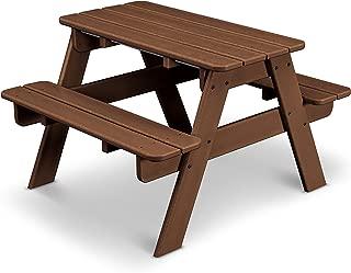 product image for POLYWOOD KT130TE Kids Picnic Table, Teak