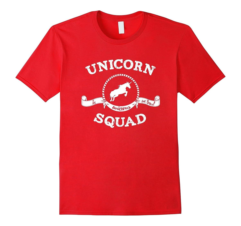 Unicorn Squad - In Unicorns We Trust T-Shirt Distressed-CD