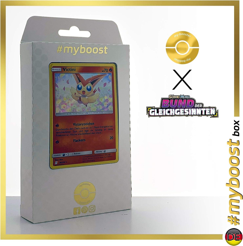 Victini 26//236 Holo #myboost X Sun /& Moon 11 Unified Minds Box di 10 Carte Pok/émon Inglesi