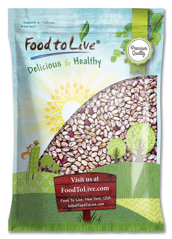 Cranberry Beans, 5 Pounds - Kosher, Borlotti by Food to Live