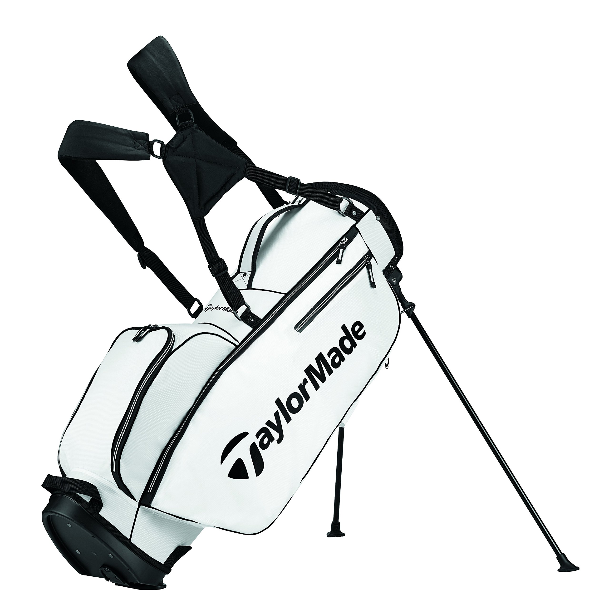TaylorMade 2017 TM 5.0 Stand Golf Bag, White/Black by TaylorMade (Image #1)
