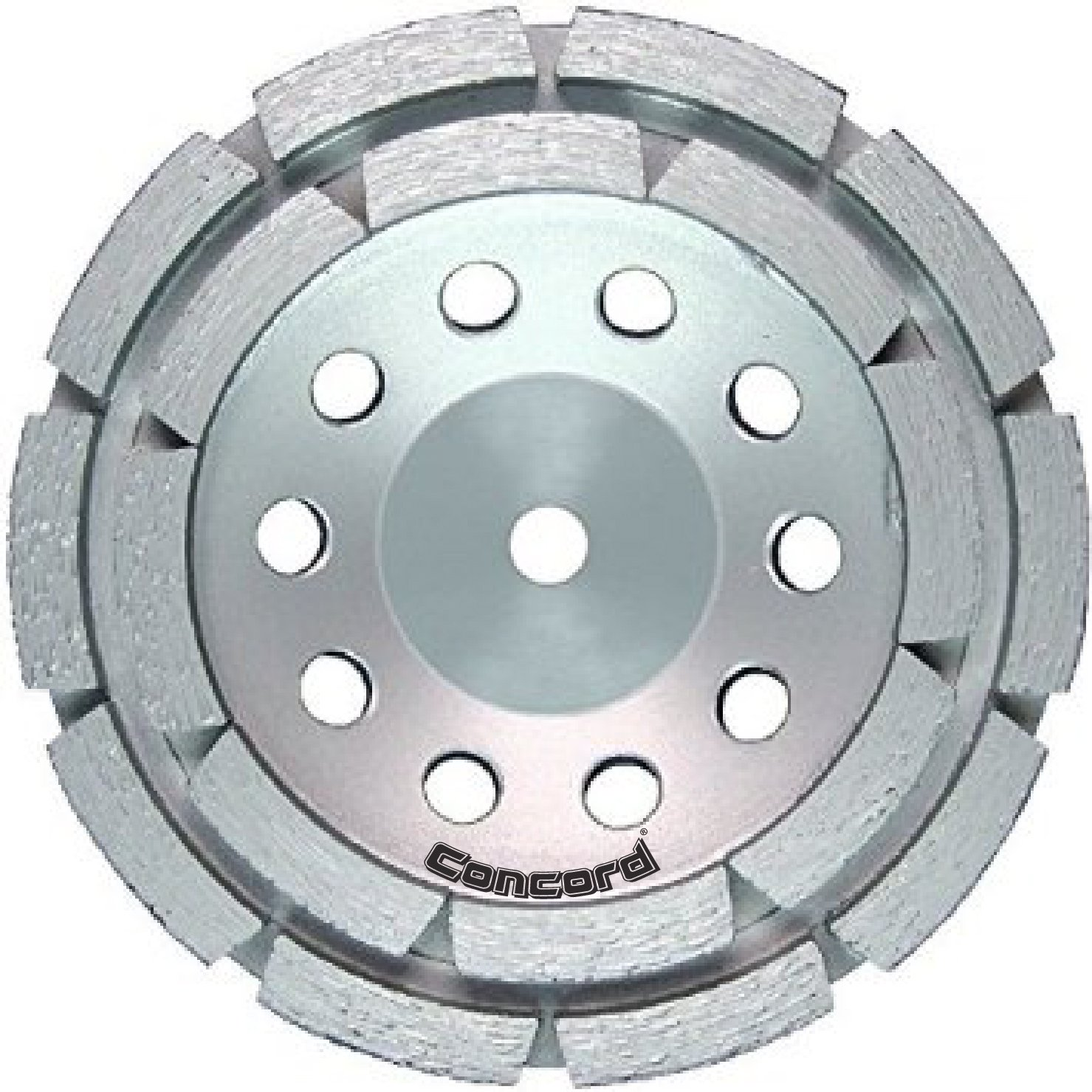 Concord Blades GCD050FCP 5 Inch Double Row Diamond Cup Wheel with 5/8''-11 Thread by Concord Blades
