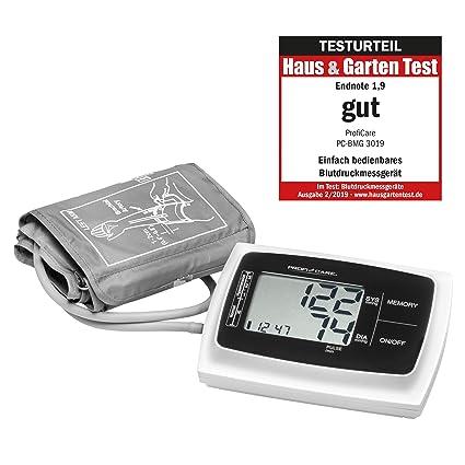 Profesional Care PC de BMG g-3019 brazo Tensiómetro, automático de presión arterial y