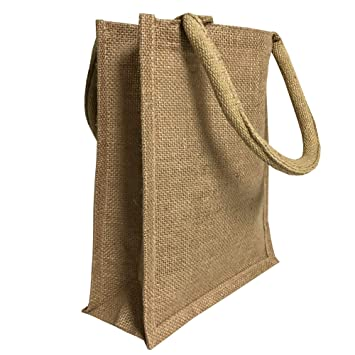 036f3ef27 Jute Burlap Tote Bags Bulk - 11 Inch Reusable Eco Friendly Party Favors Bag  with Laminated
