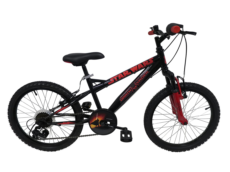Star Wars Darth Vader bicicleta niño, color negro, tamaño 20 pulgadas