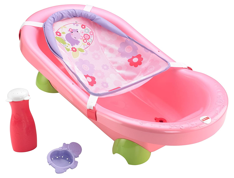 Amazon.com : Fisher-Price Pretty in Pink Bath Tub, Hippo ...