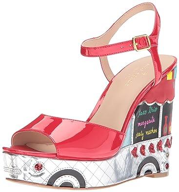 7641634de44b Kate Spade New York Women s Dora Wedge Sandal red 5 Medium US
