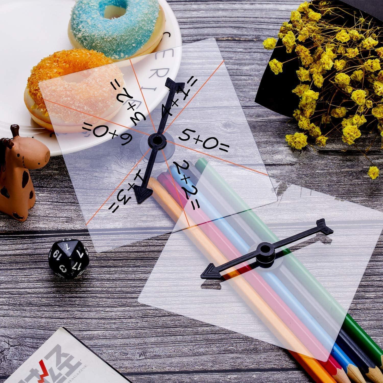 5 Pack de Spinners Transparentes Spinner de Matemáticas de Borrado Seco con Flecha Giratoria para Juegos y Enseñanza: Amazon.es: Juguetes y juegos