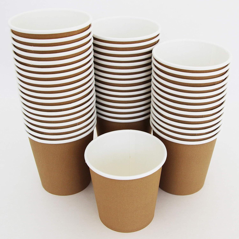 6 oz - 170 ML, 100 tazze usa e getta per bevande calde Extiff Set di tazze di cartone Kraft per Coffee to Go