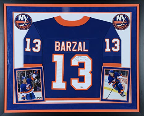 6016ef35d Mathew Barzal New York Islanders Deluxe Framed Autographed Blue Fanatics  Breakaway Jersey - Fanatics Authentic Certified