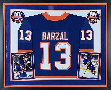 Mathew Barzal New York Islanders Deluxe Framed Autographed Blue Fanatics  Breakaway Jersey - Fanatics Authentic Certified 2932c7eec
