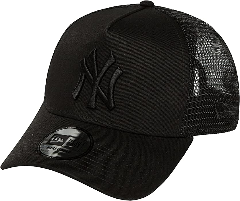 dbe8ab8d1 New Era New York Yankees Clean A Frame Trucker Cap - Black at Amazon Men's  Clothing store: