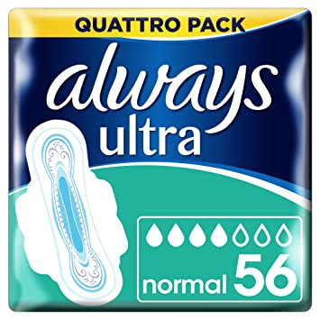 Always Ultra Normal Plus Toalla sanitaria con alas: Amazon.es: Salud y cuidado personal