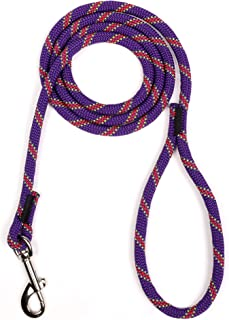product image for Atwood Rope MFG Braided Dog Leash Rope Light Weight Utility Rope - 3/8 Inch - 5 Feet | UV Resistant, All-Weather, Swivel Snap Hook, All Breeds