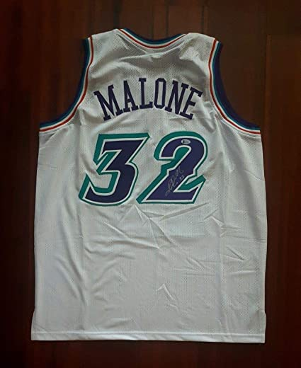 Image Unavailable. Image not available for. Color  Signed Karl Malone ... c4809dc3f