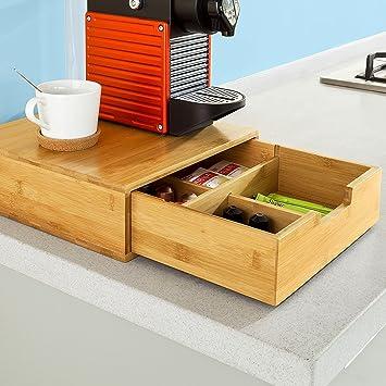 Mervy - Porte-Capsules, Boîte de rangement à tiroirs pour capsules ...