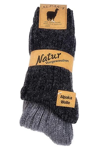alpaca 2 pares de calcetines, colores naturales súper suaves y cálidos: Amazon.es: Ropa y accesorios