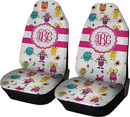 Amazon.com: RNK Shops Girly Monsters Car Seat Covers (Set of Two ...