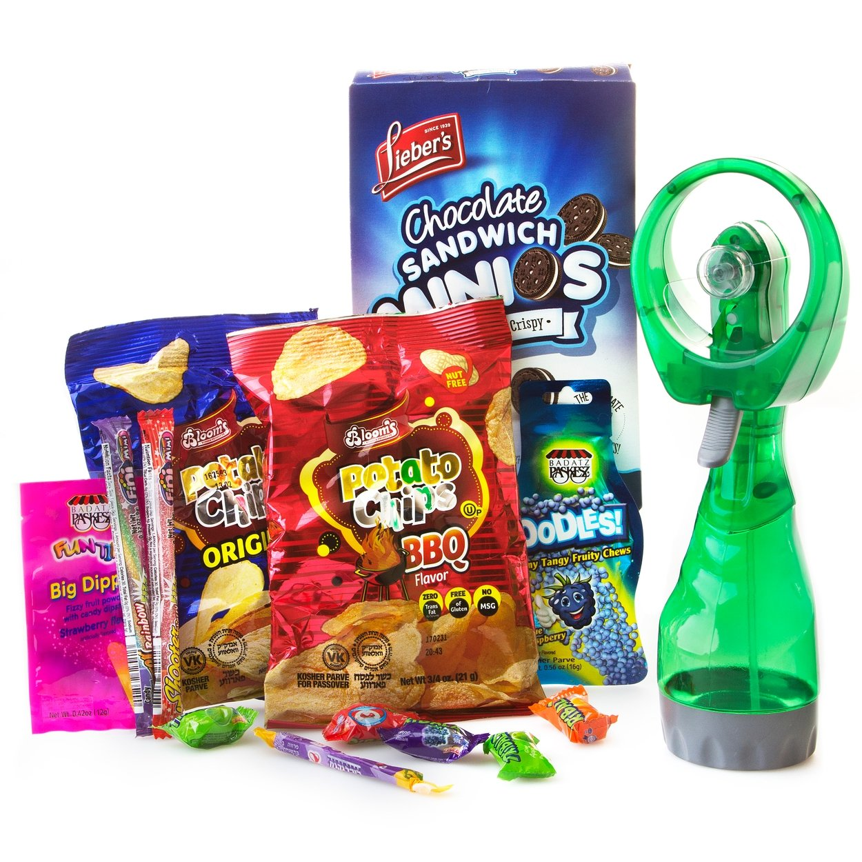 Kosher Camp Packages and Gifts - Kosher Snack and Kosher Candy - Oh! Nuts (Cool Mister Fan Kids Candy Pack)